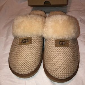 Ugg Cozy Knit Slippers Cream